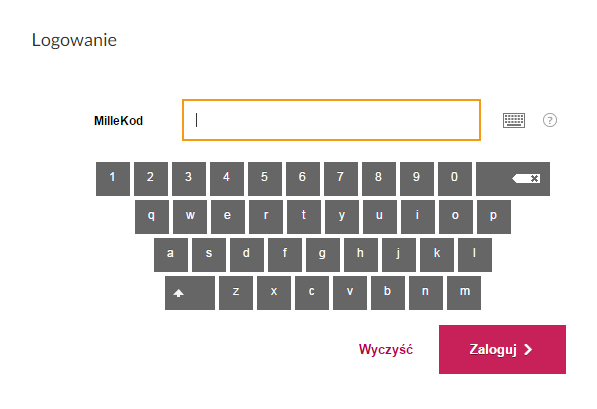 login - virtual keyboard