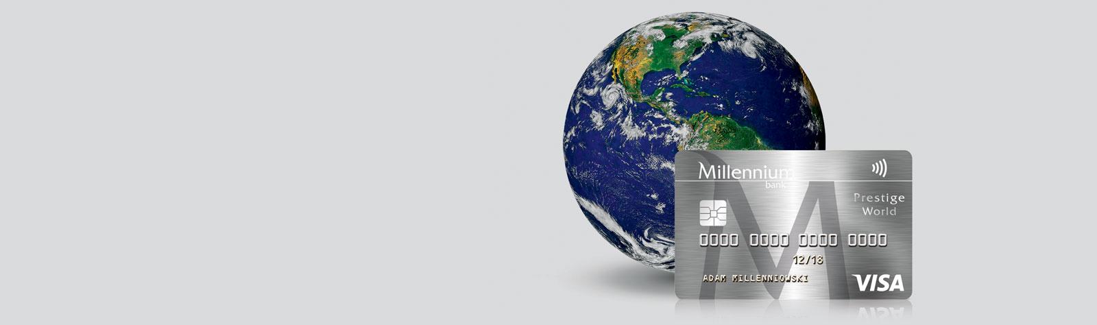 Karta World.Karta Debetowa Millennium Visa Prestige World Bank Millennium