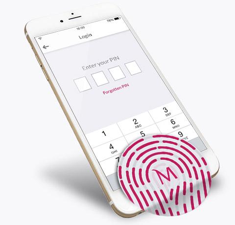 Fingerprint login - Bank Millennium